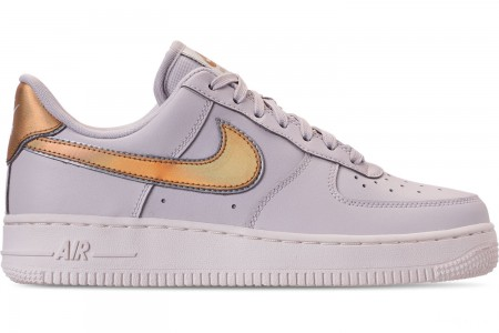 Nike Women's Air Force 1 '07 Metallic Casual Shoes - Vast Grey/Metallic Gold/Summit White