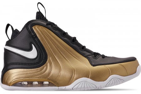 Nike Men's Air Max Wavy Basketball Shoes - Black/White/Metallic Gold