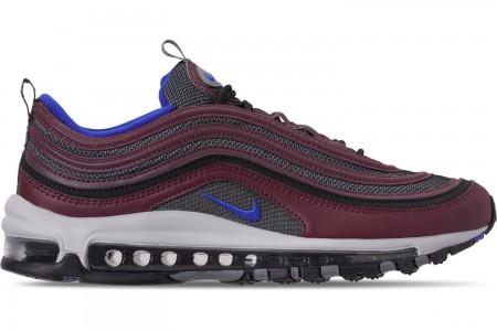 Nike Men's Air Max 97 Casual Shoes - Cool Grey/Racer Blue/Night Maroon