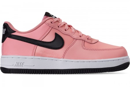 Nike Girls' Little Kids' Air Force 1 VDay Casual Shoes - Bleached Coral/Black/White
