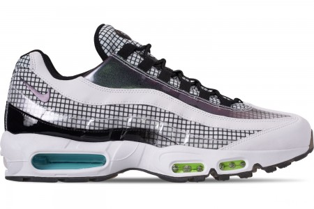 Nike Men's Air Max 95 LV8 Casual Shoes - Black/Ember Glow/Lime Blast