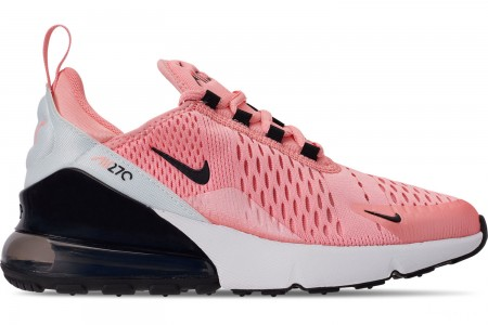 Nike Girls' Big Kids' Air Max 270 Casual Shoes - Bleached Coral/Black/White/Anthracite
