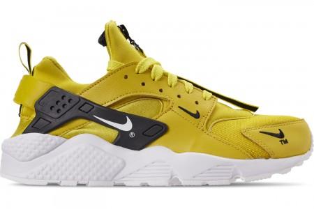 Nike Men's Nike Huarache Premium Zip Casual Shoes - Bright Citron/White/Black