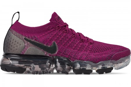 Nike Women's Air VaporMax Flyknit 2 Running Shoes - Raspberry Red/Black/True Berry