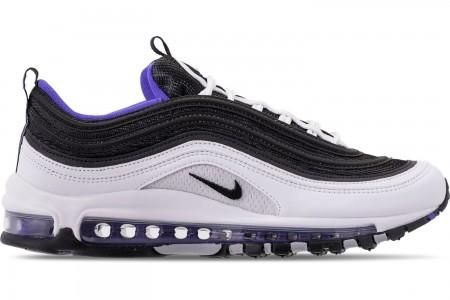 Nike Men's Air Max 97 Casual Shoes - White/Black/Persian Violet