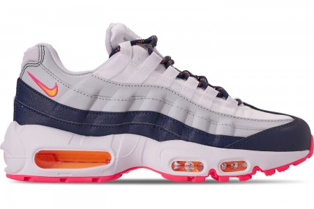 Nike Women's Air Max 95 Casual Shoes - Midnight Navy/Laser Orange/Pure Platinum