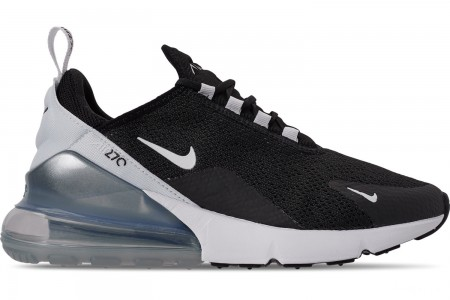 Nike Women's Air Max 270 Casual Shoes - Black/White/Pure Platinum/White