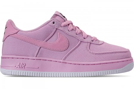 Nike Girls' Big Kids' Air Force 1 '07 LV8 Style Casual Shoes - Light Arctic Pink/Light Arctic Pink/Black