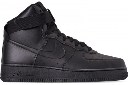 Nike Men's NBA Air Force 1 High 07 Casual Shoes - Black/Black/Black