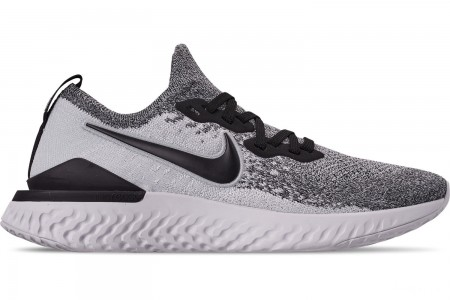 Nike Men's Epic React Flyknit 2 Running Shoes - White/Black/Pure Platinum