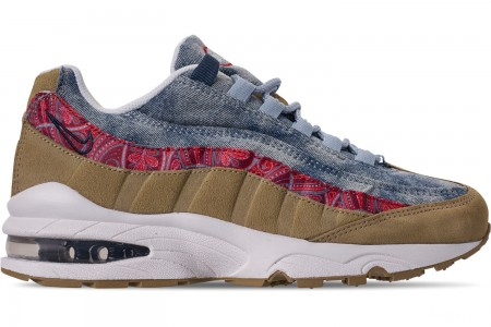 Nike Big Kids' Air Max 95 Casual Shoes - Parachite Beige/University Red