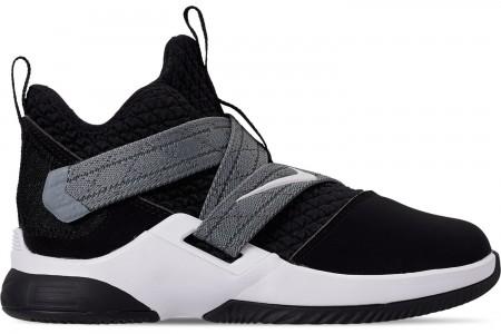 Nike Boys' Little Kids' LeBron Soldier 12 SFG Basketball Shoes - Black/White - Raid