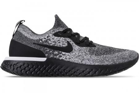 Nike Men's Epic React Flyknit Running Shoes - Black/White