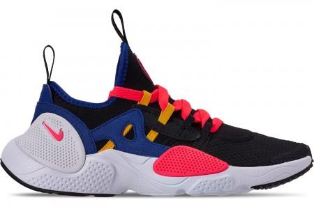 Nike Boys' Big Kids' Nike Huarache E.D.G.E. TXT Casual Shoes - Black/White/Solar Red/Indigo Force