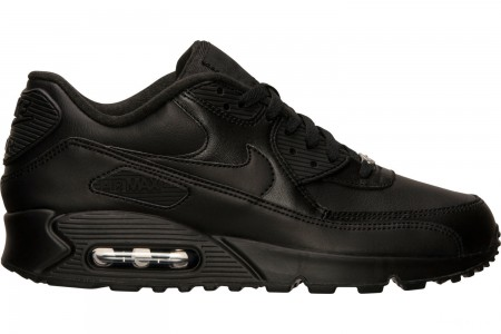 Nike Men's Air Max 90 Leather Casual Shoes - Black