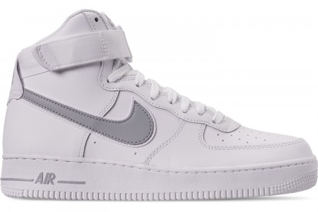 Nike Men's Air Force 1 High '07 3 Casual Shoes - White/Wolf Grey