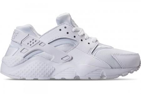 Nike Big Kids' Nike Huarache Run Casual Shoes - White/Pure Platinum