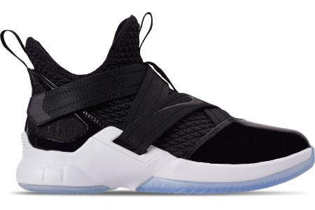 Nike Boys' Big Kids' LeBron Soldier 12 SFG Basketball Shoes - Black/Black/White