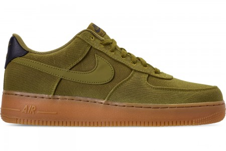 Nike Men's Air Force 1 '07 LV8 Style Casual Shoes - Camper Green/Camper Green/Gum Medium Brown