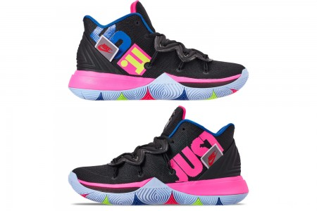 Nike Men's Kyrie 5 Basketball Shoes - Black/Volt/Hyper Pink