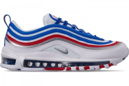 Nike Men's Air Max 97 Casual Shoes - Game Royal/Metallic Silver/Unversity Red