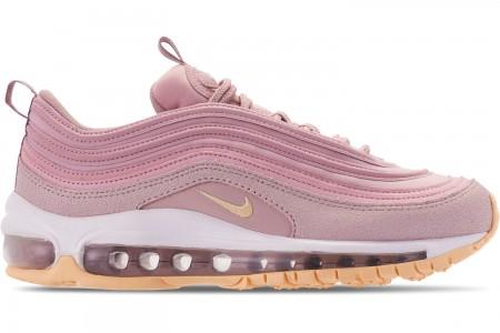 Nike Women's Air Max 97 Premium Casual Shoes - Plum Chalk/Light Cream/Particle Rose