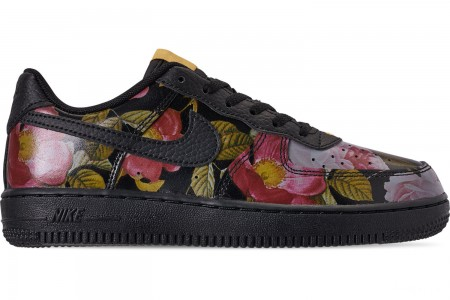 Nike Girls' Little Kids' Air Force 1 '07 LXX Casual Shoes - Black/Black/Metallic Gold