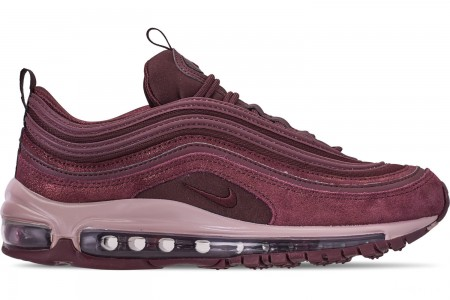 Nike Women's Air Max 97 Special Edition Casual Shoes - Burgundy Crush/Diffused Taupe/Metallic