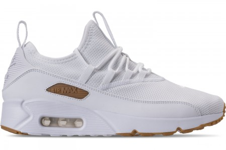Nike Men's Air Max 90 EZ Casual Shoes - White/Gum Light Brown