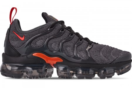 Nike Men's Air VaporMax Plus Running Shoes - Cool Grey/Team Orange/University Gold