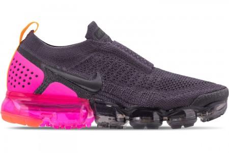 Nike Women's Air VaporMax Flyknit MOC 2 Running Shoes - Gridiron/Laser Orange/Black