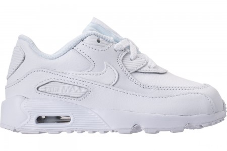Nike Kids' Toddler Air Max 90 Leather Casual Shoes - White/White