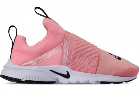 Nike Girls' Big Kids' Presto Extreme Casual Shoes - Bleached Coral/Black/White