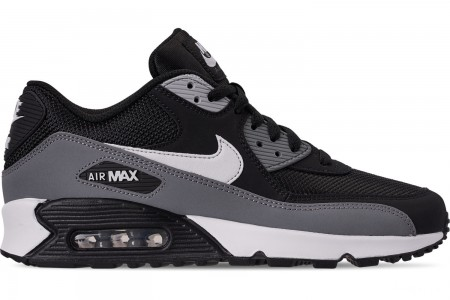 Nike Men's Air Max 90 Essential Casual Shoes - Black/White/Cool Grey/Anthracite