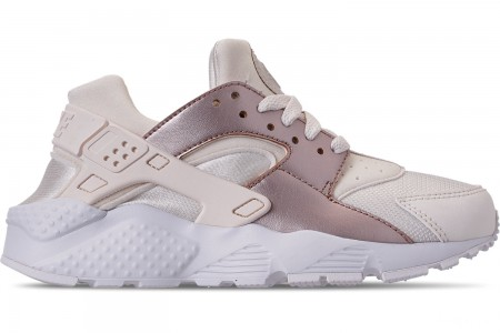 Nike Girls' Big Kids' Nike Huarache Run Casual Shoes - Phantom/Metallic Red Bronze/White