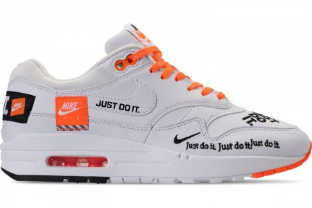 Nike Women's Air Max 1 Lux Casual Shoes - White/Black/Total Orange