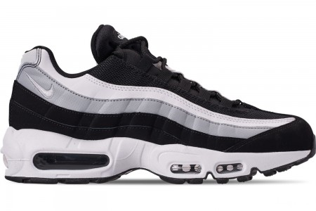 Nike Men's Air Max 95 Essential Casual Shoes - Black/White/Wolf Grey