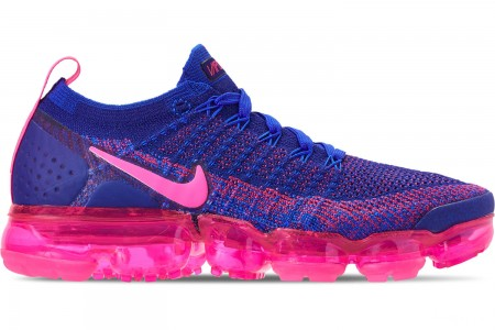 Nike Women's Air VaporMax Flyknit 2 Running Shoes - Racer Pink/Racer Blue