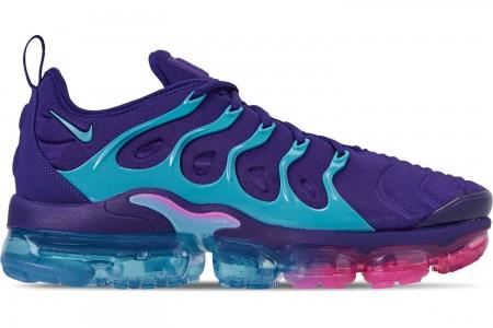 Nike Men's Air VaporMax Plus Running Shoes - Regency Purple/Light Blue Fury/Laser