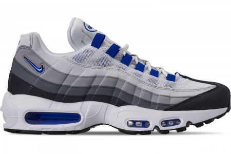 Nike Men's Air Max 95 SC Casual Shoes - White/Racer Blue/Anthracite/Wolf Grey