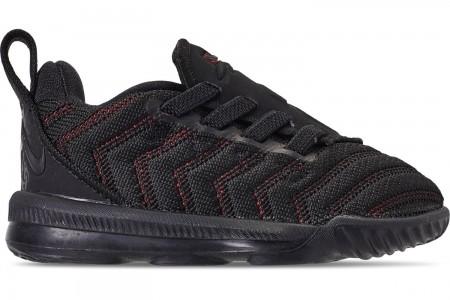 Nike Boys' Toddler LeBron 16 Basketball Shoes - Black/Black/University Red