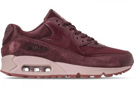 Nike Women's Air Max 90 Premium Casual Shoes - Burgundy Crush