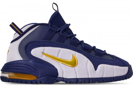 Nike Men's Air Max Penny Basketball Shoes - Deep Royal/Amarillo/White