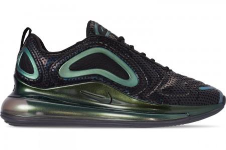 Nike Men's Air Max 720 Running Shoes - Black/Black/Metallic Silver