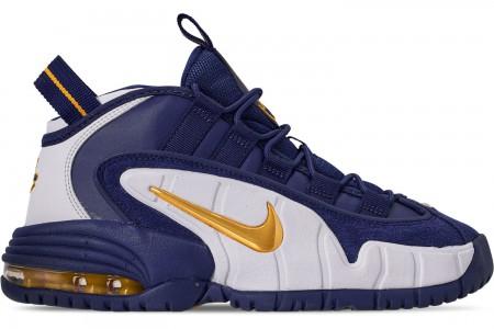 Nike Boys' Big Kids' Air Max Penny Basketball Shoes - Deep Royal/Amarillo/White