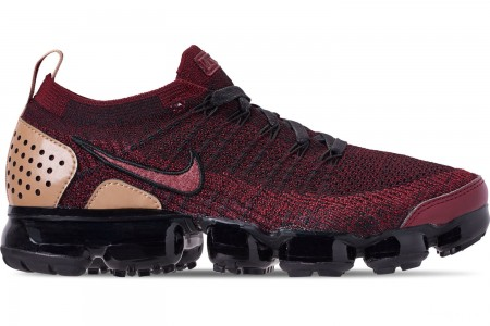 Nike Men's VaporMax Flyknit 2 NRG Running Shoes - Team Red/Black/Vachetta Tan