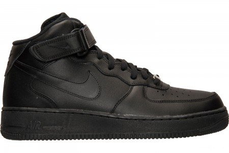 Nike Men's Air Force 1 Mid Casual Shoes - Black