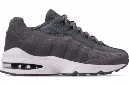 Nike Boys' Big Kids' Air Max 95 PE Casual Shoes - Cool Grey/Dark Grey/Pale Ivory