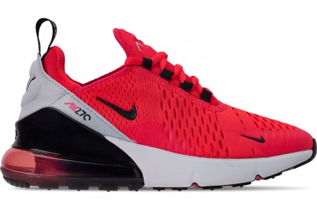 Nike Big Kids' Air Max 270 SE Casual Shoes - Red Orbit/Black/Vast Grey