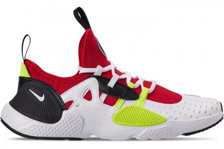 Nike Boys' Big Kids' Nike Huarache E.D.G.E Casual Shoes - White/Black/Volt/University Red